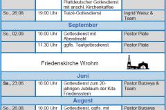 Gottesdienste KK Jun-Aug 18