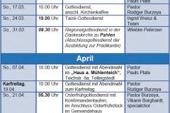 Gottesdienste KK Mrz-Mai 19